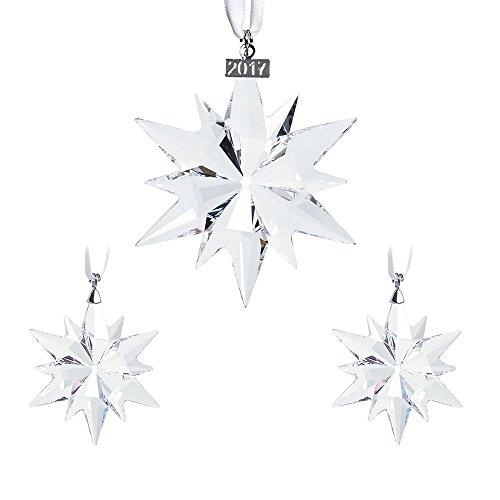 Swarovski Natale Set Figura, Cristallo, Trasparente, 13x 11x 11cm, 3unità