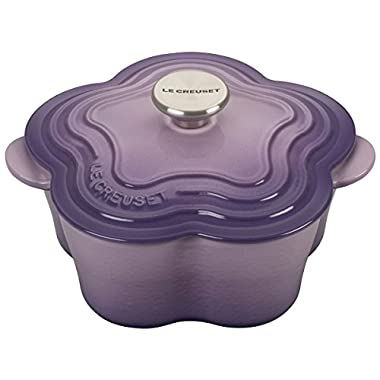 Le Creuset L2104-02BPS Enameled Cast Iron Flower Cocotte with Stainless Steel Knob, 2.25 quart, Provence
