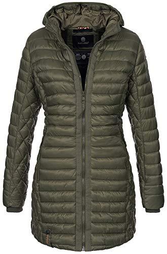Navahoo dames winterjas gewatteerde jas winter jas lang gewatteerde warm teddyfell B671