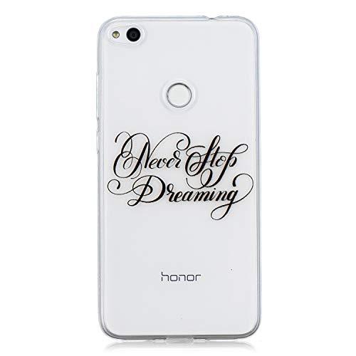Carols Coque Huawei P8 Lite 2017, Huawei P8 Lite 2017 (5.2 Zoll) Étui TPU Silicone Souple Coque - Chasser Les rêves
