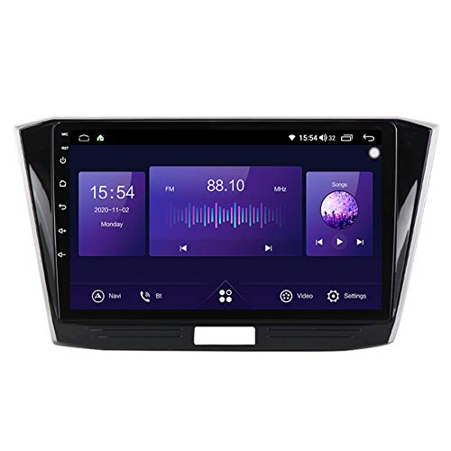 Flower-Ager Android 10 Autorradio GPS Navegación del Coche pour Passat B8 2015-2018 mp5 Multimedia Reproductor FM Am Radio DSP carplay Manos Libres Bluetooth+Cámara Trasera,7862,6+128G