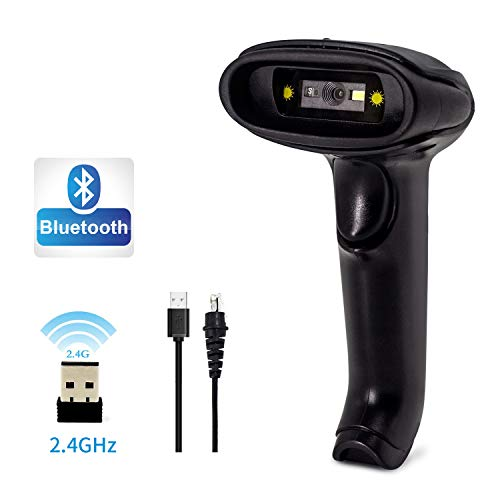 Kabelloser Bluetooth 2D Barcodescanner, Alacrity Handheld USB Wireless 1D 2D Barcodes Scanner Imager für mobile Bewirtschaftung Computer Bildschirm Scan für POS Android iOS iMac iPad System