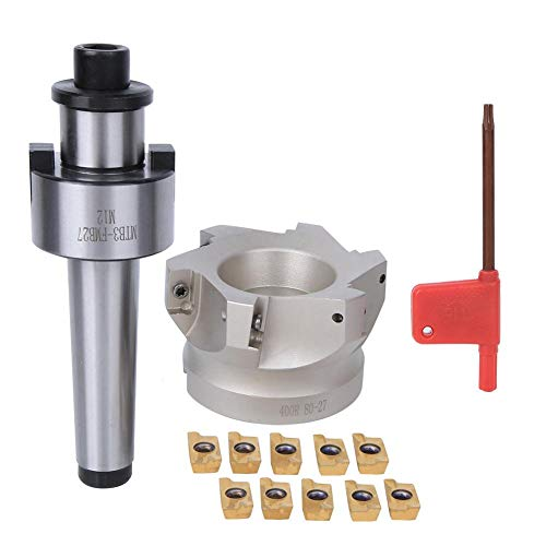 Save %9 Now! MTB3-FMB27 Collet Chuck Holder + 80 Milling Cutter + 1604APMT Milling Cutter Inserts 6P...