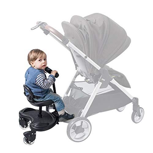Buggy Board, Buggy Board con asiento, Cochecito de bebé auxiliar Peadal, con conector de soporte de asiento para niños, adecuado para la mayoría de accesorios de cochecito