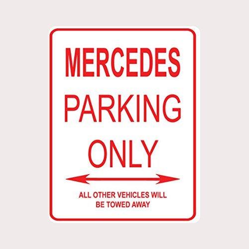Fhdang Decor Mercedes Parking Only Metallschild Aluminium Schild Straßenschild, Metall, Multi, 8x12 inches