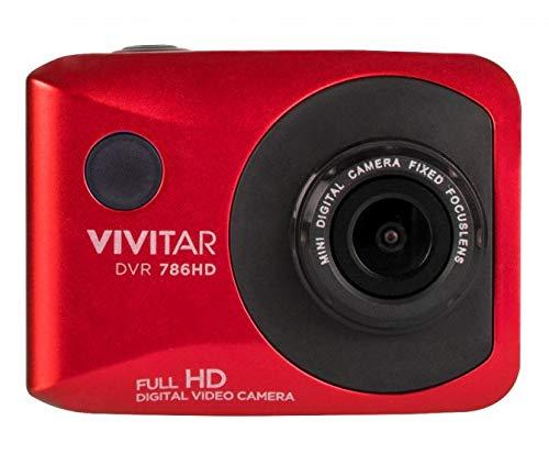 Vivitar DVR786HD 1080p HD Waterproof Action Video Camera Camcorder (Red) with Remote, Helmet & Bike Mounts