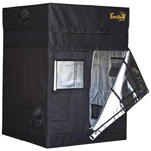 Gorilla Grow Tent Lite Line | Complete 4-Foot by 8-Foot Reflective Hydroponic Grow Tent for Growing...
