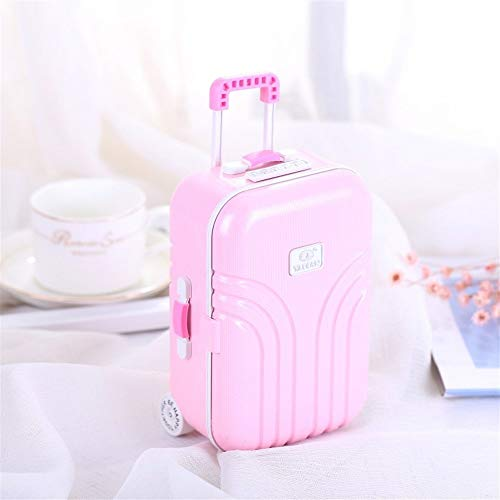 L.W.S Music box Creative Trolley Music Jewelry Box Luggage Candy Color Eight-tone Jewelry Box Birthday Gift Creative Eight-tone Jewelry Box, Cute Suitcase Shape, Open Music Box Little Girl Rotating Da