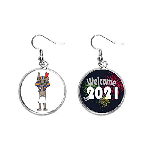 Red Card Whistle Referee Mummy Cartoon Ear Pendants Earring Jewelry 2021 Blessing