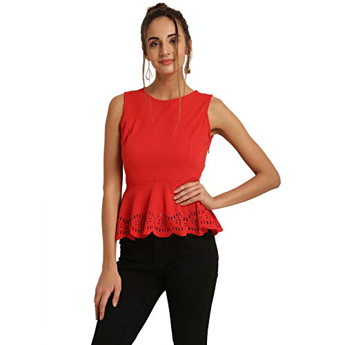 Harpa Women Plain Top (GR5697- Red_Small)
