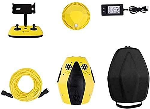aipipl Drone subacuático, cámara Full HD 1080p fácil de Transportar, Puede bucear 15 Metros, Carga rápida, Adecuado para exploración submarina, Buceo, Disparos, Pesca, Regalos