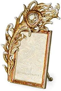 Jay Strongwater Hand Signed Harper Golden Peacock 2 X 3 Frame SPF5771-232