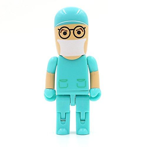 Médico Hospital Cirujano 16 GB - Doctor Hospital - Memoria Almacenamiento de Datos – USB Flash Pen Drive Memory Stick