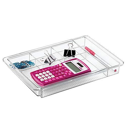 mDesign ausziehbarer Schreibtisch-Organizer – Schreibtischablage für Schreibtischzubehör oder Schubladen - perfekt für Textmarker, Radiergummi & Co. - ausziehbar auf 47 cm Breite