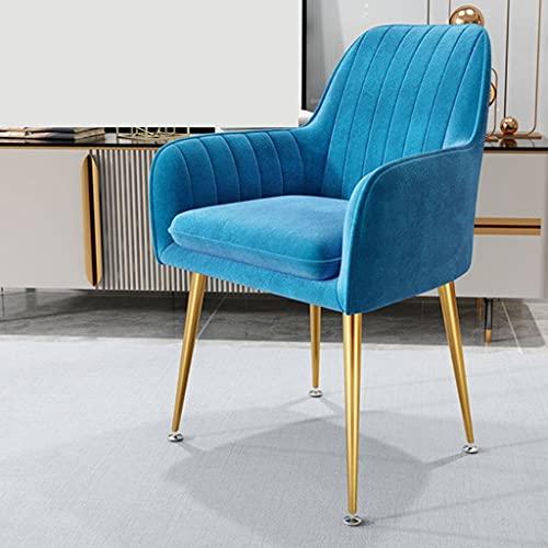 YKAMM Sillones, Muebles de Sala de Estar, sofá, Silla, nórdico, Moderno, Simplicidad, tocador, sillones Ligeros de Felpa para Dormitorio (Color : Blue)