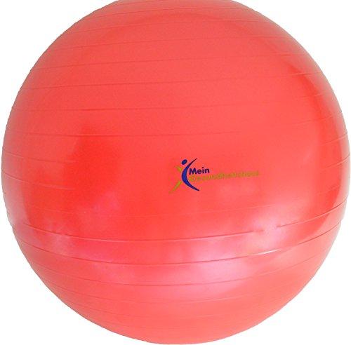 Meingesundheitshaus Gymnastikball rot 55cm, 65cm oder 75cm inkl. Pumpe (65cm)