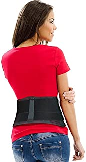 Lower Back Brace Belt by AidBrace - Fast Lower Back Pain Relief for Herniated Disc, Sciatica, and Scoliosis for Men & Women - Includes Removable Lumbar Pad (Small/Medium)