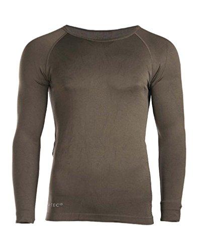 T-shirt Militaire Sports - Manche Longue - Vert Olive