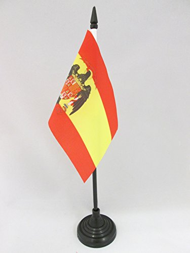 AZ FLAG Bandera de Mesa de ESPAÑA 1977-1981 15x10cm - BANDERINA de ...