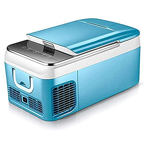 XIXIDIAN Mini refrigerador de 18 litros: refrigerador portátil Refrigerador Compacto eléctrico Powered 12V / 24V DC para Coche, Barco, SUV, RV, hogar, Azul/Gris