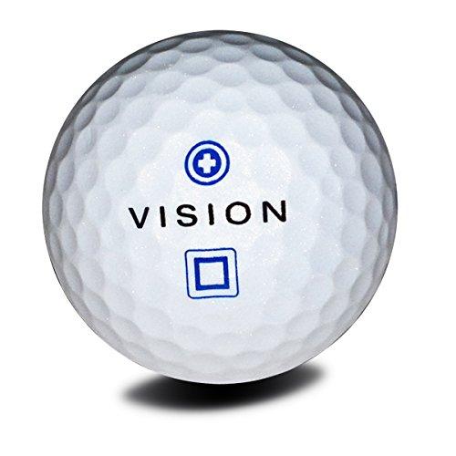 12 Golfbälle Weiß - Vision Pro Tour X ArcticBluishWhite - 1 Dutzend Soft Neu Sichtbarkeit Distance Perlmutt-Effekt