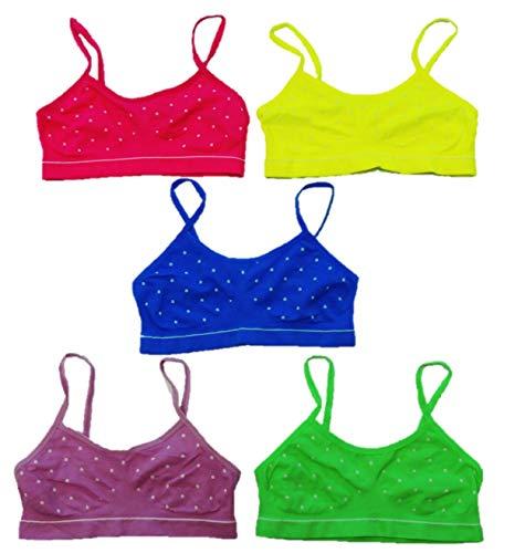 5er Pack Mädchen Bustier in schönen Farben Größe 134-146