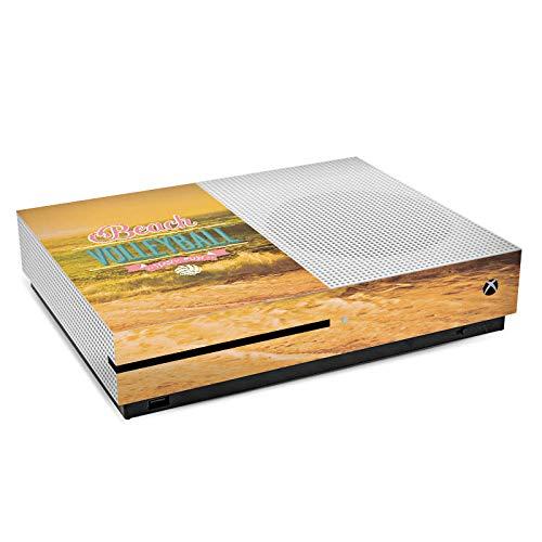 DeinDesign Skin kompatibel mit Microsoft Xbox One S Aufkleber Folie Sticker Volleyball Beach Strand