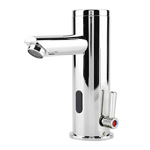 Sensor de infrarrojos Faucet Grifo de cierre automático sin contacto Ahorro de agua Grifo de agua eléctrico inductivo Mezclador de lavabo caliente y frío para baño Cocina Lavabo