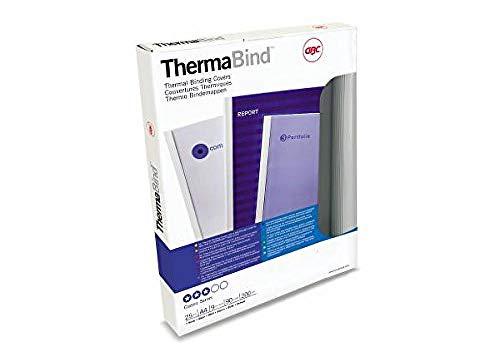 GBC - Tapas de encuadernación térmica estándar (25 unidades, 9 mm), color blanco