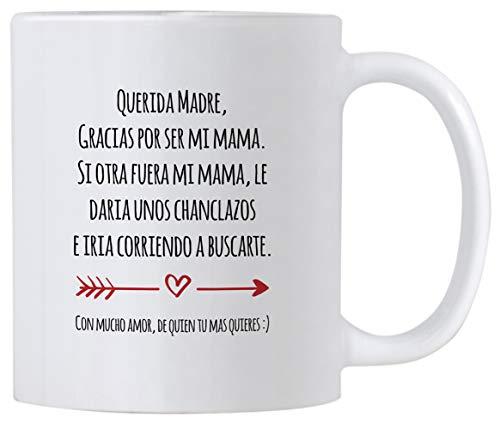 Casitika Regalo Para Mama de Dia de Madres o Cumpleanos. Funny Gift Ideas in Spanish for Mothers Day or Birthday. 11 oz Latin Mom Mug. Taza para Cafe Para Feliz Dia de La Madre.