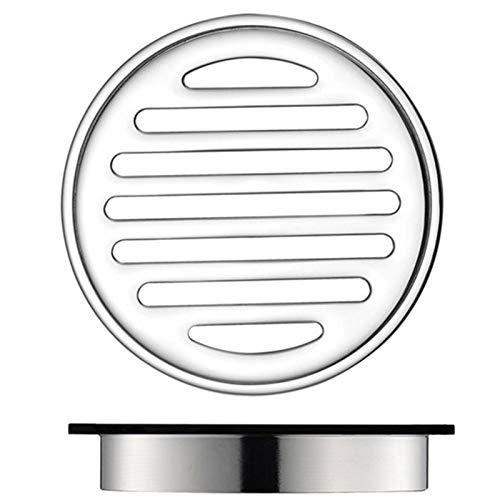 WHR-HARP Siphon de Sol Horizontal, Drain de Douche Carré, Passoire Filtre Cheveux pour Salle De Bain, Siphon de Sol avec Couvercle Amovible, pour Cuisine, Salle d'eau, Garage