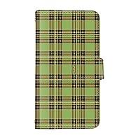 スマ通 Xperia X Compact SO-02J 国内生産 カード スマホケース 手帳型 SONY ソニー エクスペリア エックス コンパクト 【4-グリーン】 タータンチェック q0004-c0150