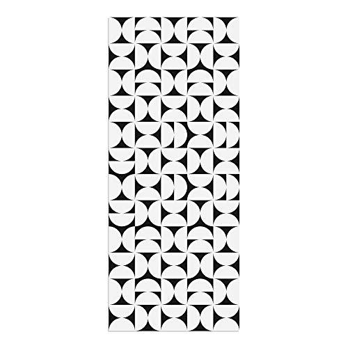 Alfombra Vinílica, Geometría, Negro, 120 x 50 cm, Varios Tamaños y Colores, PVC Estampado, ALV-080-NE