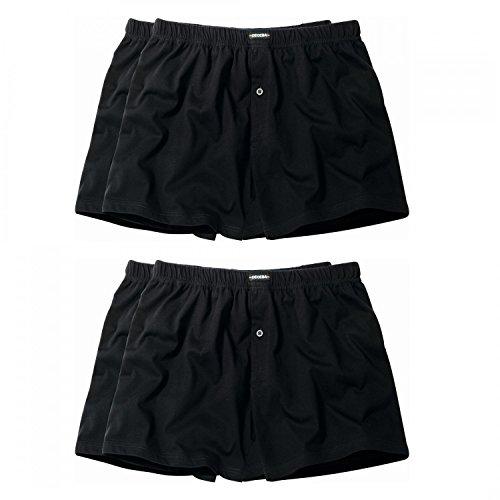 Ceceba 4 er Pack Jersey Boxershorts Pant Unterhosen Herren schwarz Größen XL - 8XL, Grösse:L, Farbe:schwarz