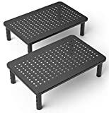 2 Pack Premium Laptop PC Monitor Stand with Sturdy, Stable Black...