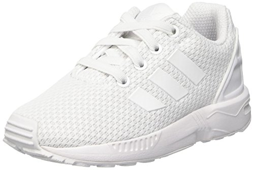 adidas ZX Flux El i, Scarpe da Ginnastica Basse Unisex-Bambini, Bianco (Footwear White/Footwear White/Footwear White), 27 EU