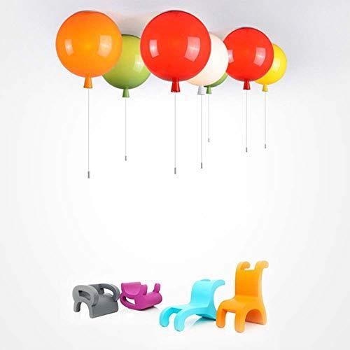 De enige goede kwaliteit Indoor LED Kleur Decoratieve Ballon Licht Plafond Lamp Warm Slaapkamer Kleding Winkel Kinderverlichtingsarmaturen 6 Kleuren