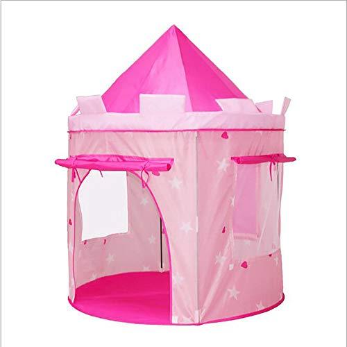 LITI Schöne Kinder Zelt Kinder Spielen Zelt Und Tragbare Jungen Mädchen Spielzelt Playhouse Castle (Rosa)