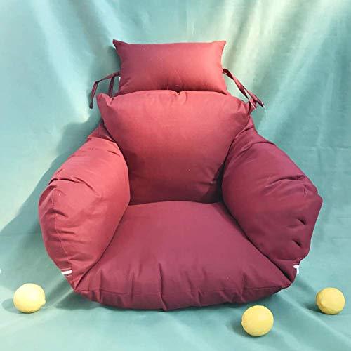 JFFFFWI Cuscini per sedie appesi a Forma di Amaca, Cuscino per Sedile a Battente Addensato Senza Supporto Cuscini per Sedia Amaca Rimovibili per Amaca bay Window-e 50x53cm (20x21 Pollici)