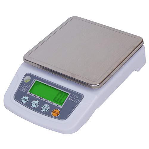 Balanza electrónica precisa 0.1g cocina doméstica pesaje de alimentos y materiales medicinales nido de pájaro balanza de condimentos balanza recargable 6kg / 1g + cable USB