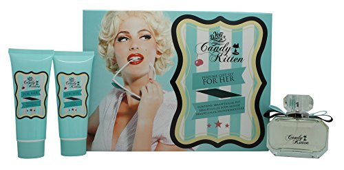 Candy Kitten Turquoise Geschenkset 100ml EDT + 100ml Körpermousse + 100ml Dusch-Smoothie