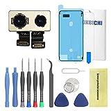 OKBICHI Cámara Trasera para iPhone 7 Plus (Todos los portadores) Módulo de cámara Trasera Flex Cable de Repuesto - Herramientas de reparación con Protector de Pantalla y Sello Impermeable