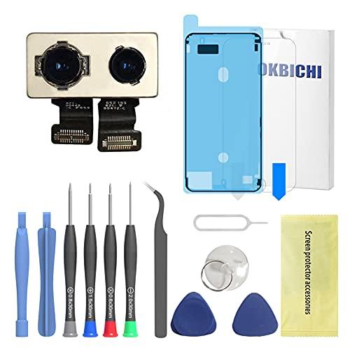 OKBICHI Cámara trasera para iPhone 7 Plus (todos los transportistas) Módulo de cámara trasera Flex Cable Reemplazo - Herramientas de reparación con protector de pantalla y sello impermeable