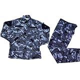 イギリス軍 ブラッシュパターン DPM迷彩 青系 レプリカ BDU 迷彩服 戦闘服 ジャケット&パンツ 上下セット (S)