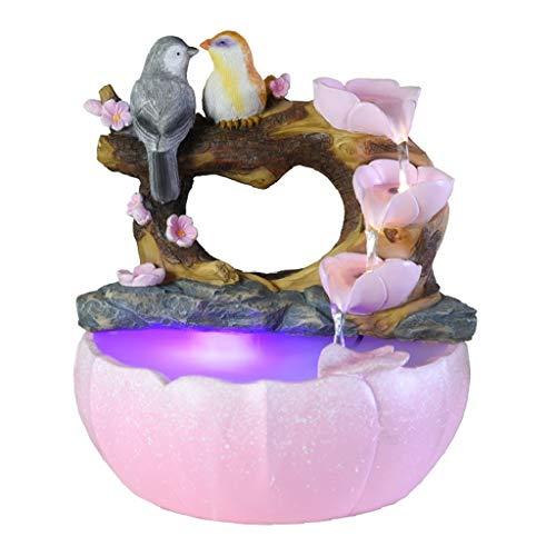 NYKK Meditationsbrunnen Garten Vintage Vogel-Tabletop-Garten-Brunnen Indoor Outdoor tragbare Tabletop Dekorative Zen Meditation Wasserfall Kit enthält Tauchpumpe Zimmerbrunnen (Color : with Atomizer)