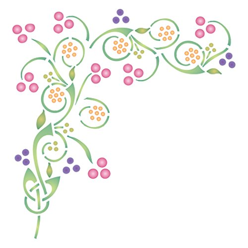 Plantilla de nudo celta – 26,5 x 25,5 cm – Plantillas de pared reutilizables con diseño de símbolo irlandés para pintar