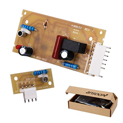 4389102 Refrigerator Ice Maker Optic Level Control Board Kit Replacement parts Compatible for Whirlpool Emitter Sensor Replaces W10757851 2198586 W10193840