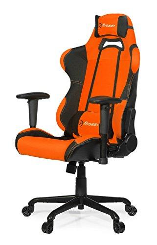 Arozzi TORRETTA Fauteuil Gaming pour Bureau Tissu Orange 152 x 54 x 50 cm