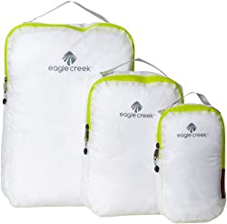 packing cubes three white and green eagle creek