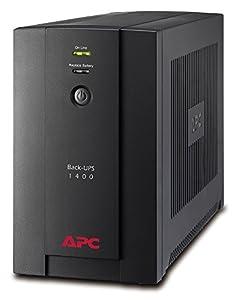 APC Back-UPS BX - BX1400UI - Unterbrechungsfreie Stromversorgung 1400VA (AVR, 6 IEC Ausgänge, USB, Shutdown Software)